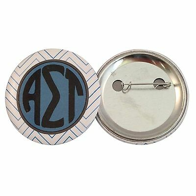 "Alpha Sigma Tau Chevron Letter 2"" Button (1 Total)"