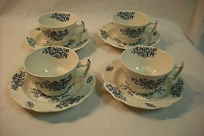 BOOTHS Set of 4 Cups and Saucers - Made in England A8021