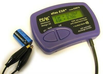 Peak ESR70 Atlas ESR Plus Tester - Low Resistance and Capacitance Meter
