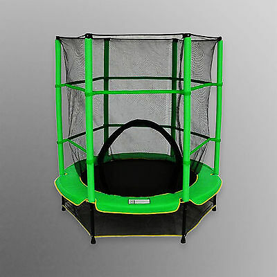 Junior Trampoline With Safety Net Kids Toddlers Outdoor Trampolines 4.5FT