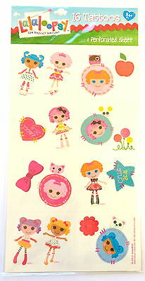 16 Lalaloopsy Tattoos ( 8 squares) Party Favors Teacher  Supply