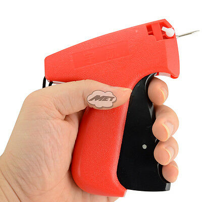 Fine Pin Price Tag Gun Clothing Clothes Garment Label Tagging Labelling Gun Red