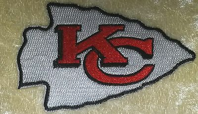 """Kansas City Chiefs Big 3.5"""" Iron On Embroidered Patch ~US Seller~FREE Ship!"""