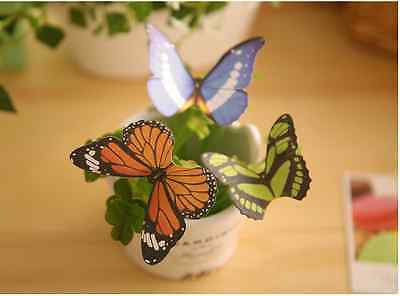 1x Cute Butterfly Sticker Post-it Notes Bookmark Memo Flags Sticky Index