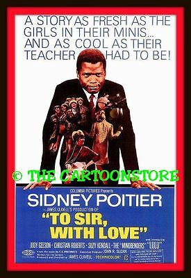 """SIDNEY POITIER, TO SIR WITH LOVE FILM - MINI-POSTER PRINT 7"""" x 5"""""""