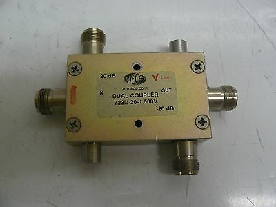 Meca 722N-20-1.500V Dual Coupler -20Db Low Loss Directional Coupler