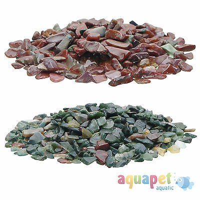 Fluval Aquarium Gravel - Finely Polished Earthstones - Blood Fancy and Jasper • EUR 9,84