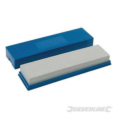 Combination Sharpening Stone 200 x 50 x 25mm Woodwork Tools Silverline CB14