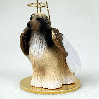 Afghan Hound Brown Tan Dog ANGEL Tiny One Ornament Figurine Statue
