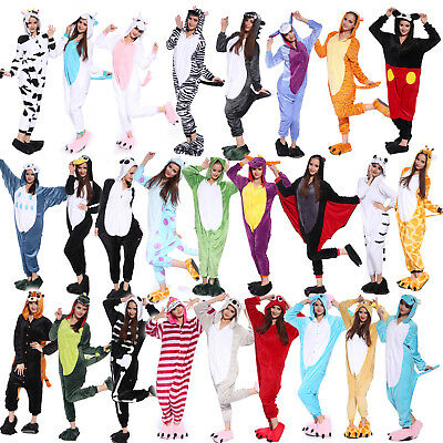 Adult Unisex Playsuit Kigurumi Animal Pajamas Cosplay Costume Sleepwear