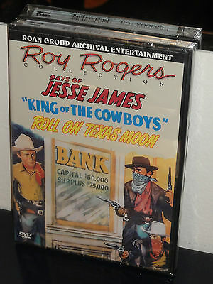 Roll On Texas Moon / Days Of Jesse James / King Of The Cowboys, ROAN (DVD) NEW!