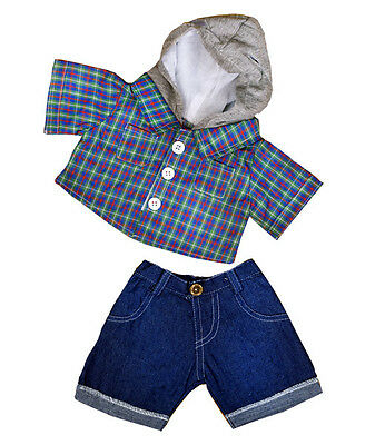 """Skater Hoodie with Denim Pants 16""""(40cm) by Teddy Mountain will fit Build a Bear"""