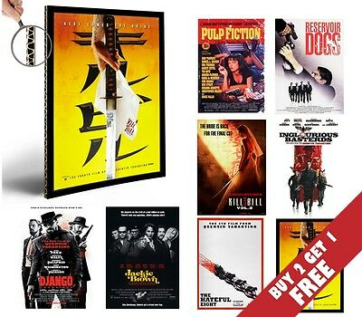 QUENTIN TARANTINO ALL MOVIES Poster Options A4 Photo Print Film Home Decor Art