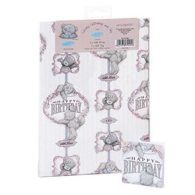 Me To You Happy Birthday Gift Wrap 2 Sheets & 2 Tags Tatty Teddy Bear New Gift