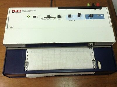 LKB BROMMA - P/N: 90 01 7249, 2-Channel, Flatbed, Chart Recorder