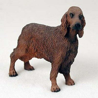 Irsih Setter Dog Hand Painted Canine Collectable Figurine Statue