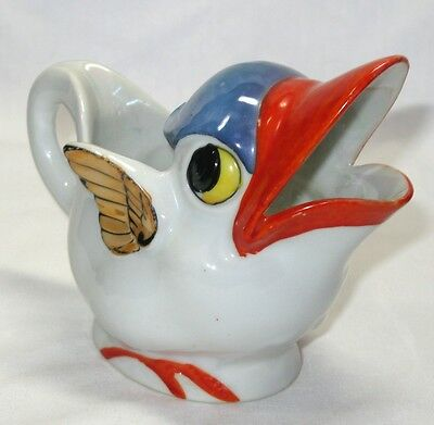 """Vintage Luster Winged Bird Pitcher,Made In Japan, 4 1/4"""",Very Good Condition"""