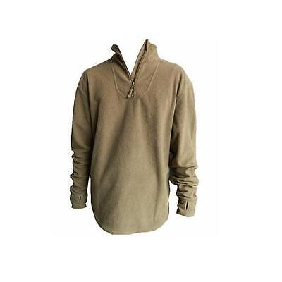 PCS Thermal Combat Undershirt Army Issue Light Olive Half Zip Fleece Top ~ Used