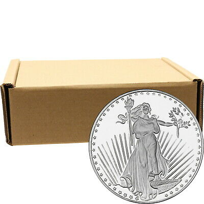 Saint-Gaudens 1oz .999 Silver Medallion by SilverTowne - Monster Box of 500
