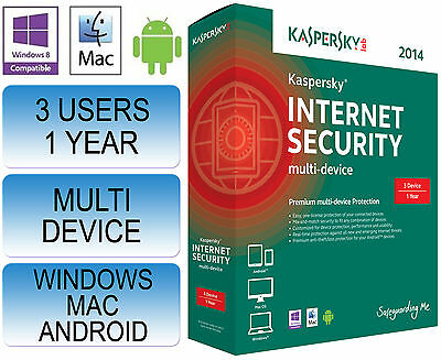 Kaspersky Internet Security 2015 Multi 3 Device 1 Year PC MAC ANDROID
