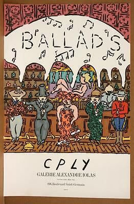 "CPLY (W. Copley) ""BALLADS"" Original lithograph, vintage poster, Mourlot, IOLAS!"
