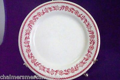 Buffalo China Kenmore Red 1 Salad Plate White Flowers Vintage Restaurant Ware