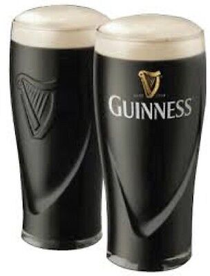 2 New Guinness Imperial Pint Glasses New Design Hard to Find