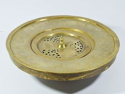 20th C. ANTIQUE ARABIC ISLAMIC BASIN BRASS CARVED WITH CALLIGRAPHY