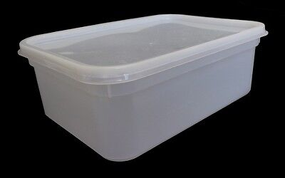 2 Litre Rectangular Ice Cream tubs / Food storage containers with Lids