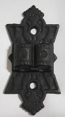 "NEW 5"" LARGE DOUBLE BLACK CAST IRON BRACKET LAMP WALL HANGER HINGE  #BR930"