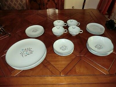 """ EXTREMELY RARE PATTERN"" BEAUTIFUL VINTAGE BALLERINA MIST CHINA SET C1950'S"