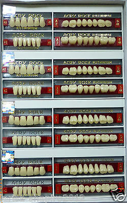 Lot X 4 Full set Dental Acrylic Teeth Acry Rock Ruthinium  size 41