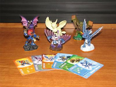 Skylanders Giants - Lot of 6 New Figures with Stat Cards
