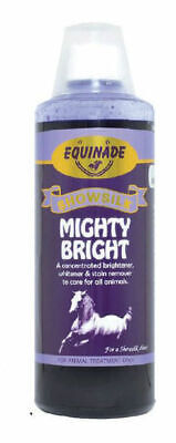 Equinade MIGHTY BRIGHT animal shampoo Stain Remover Horses Dogs Birds Cats
