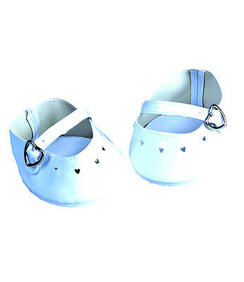 """White Dress Shoes 16"""" (40cm) by Teddy Mountain will fit Build a Bear"""