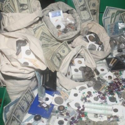 ESTATE SALE LOT CURRENCY  GOLD  SILVER  COINS  PROOF SETS  ARTIFACTS  BARS +MORE
