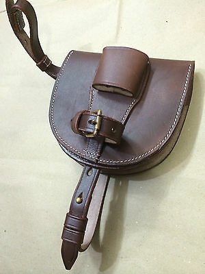 WWI Leather Horseshoe Case - ANTIQUE BROWN