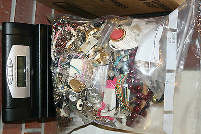80 POUND lot old vintage antique jewelry repair salvage resale brooches beads