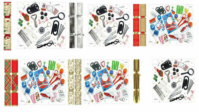 "50 x 12"" Traditional Christmas Tree Decorations Xmas Party Table Crackers"