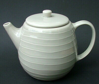 For Habitat Stylish Bonzai Pattern White 2.25pt Teapot & Lid 15cmh Looks in VGC
