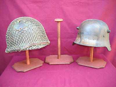 WWII German & WWI Imperial Combat Helmet Display Stands