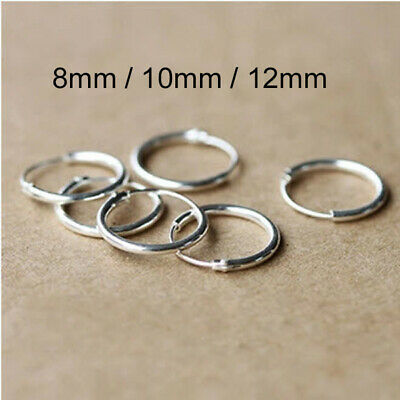 Genuine .925 Sterling Silver Small Hoop Earrings Studs Nose Rings Body Piercing