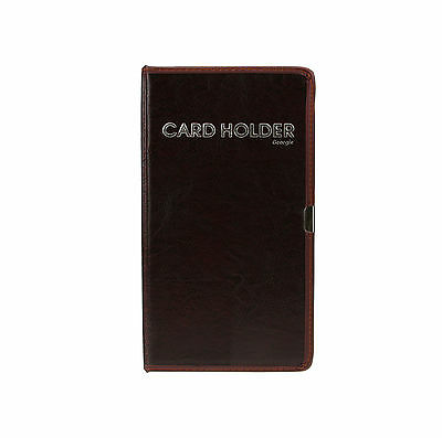 Leather Office Business ID Credit Card Holder Booklet Wallet Pouch Book Folder