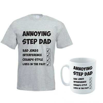 ANNOYING STEP DAD - Father / Daddy / Family / Novelty Men's T-Shirt and Mug Set