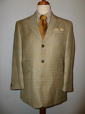 Mens Alpendale Pure Wool Box Check Country Tweed-  Size Uk 40S  Eu 50  New