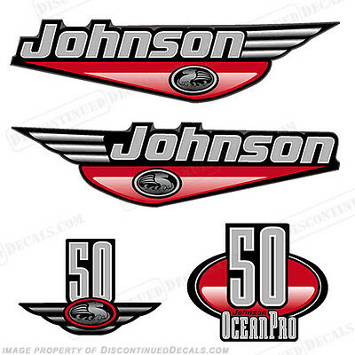 Johnson 1999-2000 OceanPro 50hp Outboard Decal Kit - You Choose Color! Decals