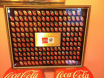 OFFICIAL OLYMPIC INTERNATIONAL FLAG PIN SERIES 162 COKE COCA COLA 1983 ORIGINAL!