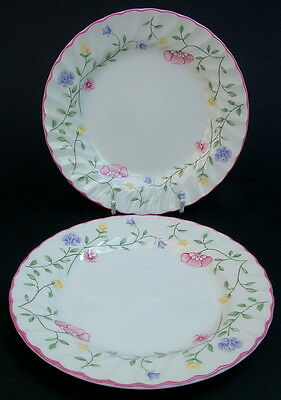 "TWO Johnson Brothers Summer Chintz Side or Bread Size Plates 17.5cm 7"" - in VGC"
