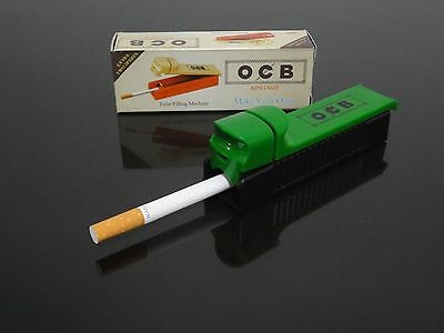 NEW Green Manual Tobacco Roller Maker Cigarette Rolling Machine Injector # 02