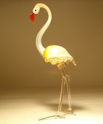 Blown Glass Art Figurine Gorgeous FLAMINGO Bird